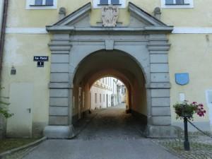 Bibliothek Garsten Eingang