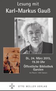 Karl-Markus Gauß Lesung Garsten