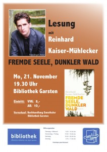 Lesung Reinhard Kaiser-Muehlecker: Fremde Seele, dunkler Wald