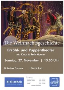 Die Weihnachtsgeschichte, ein Erzähl- und Puppentheater mit Klaus und Ruth Humer