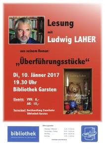 Lesung Ludwig Laher: Überführungsstücke