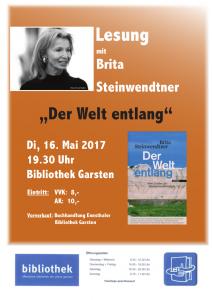 Lesung Brita Steinwendtner Der Welt entlang